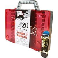 Tech Deck 6014255 Storage Case - Caja de almacenamiento para 20 monopatines de dedo / fingerboard (incluye 1 monopatín), colores surtidos