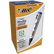 Bic Marking 2000 Permanent Marker Bullet Tip Line Width 1.7mm Blue Ref 820914 [Pack 12]