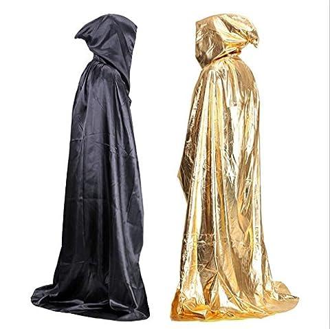 dressvip Cape à capuche pour Halloween - noir - Taille unique
