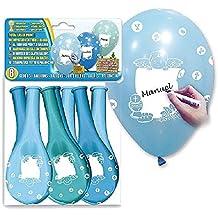 Globolandia–8globos azules personalizables–35cm