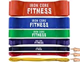 Resistance bands set of Black Red and Yellow Warm up bands set. Stretching bands for fitness bands resistance set of light resistance bands for toning. set of bands mobility and bodybuilding bands set
