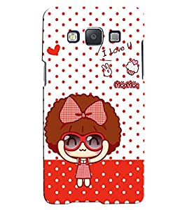 Citydreamz I Love You\Dotted Pattern Hard Polycarbonate Designer Back Case Cover For Samsung Galaxy Core Prime G360H/G361H