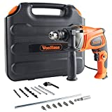 VonHaus 1050W Hammer Impact Drill - Stainless Steel Depth Gauge Heavy Duty Electric