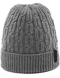 55f96b84527 Siggi Unisex Wool Blend Beanie Hat for Men Thick Warm Fleece Lined Winter  Outdoor Hats 55
