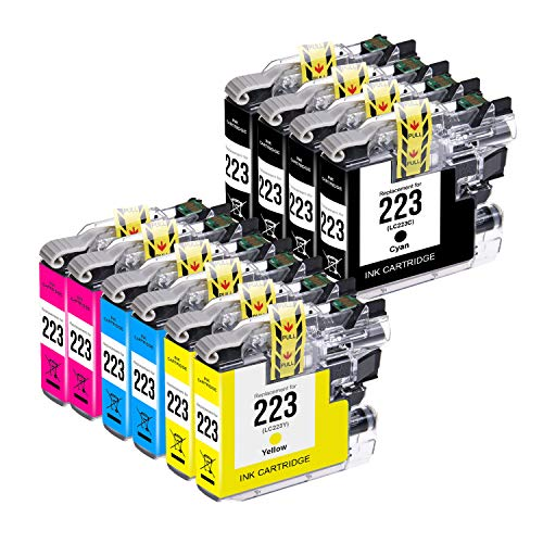 MyCartridge Compatibile Brother LC223 xl LC223XL Cartucce d'inchiostro per Brother MFC-J5320DW MFC-J480DW MFC-J880DW MFC-J4420DW MFC-J5625DW(4 Nero,2 Ciano,2 Magenta,2 Giallo)