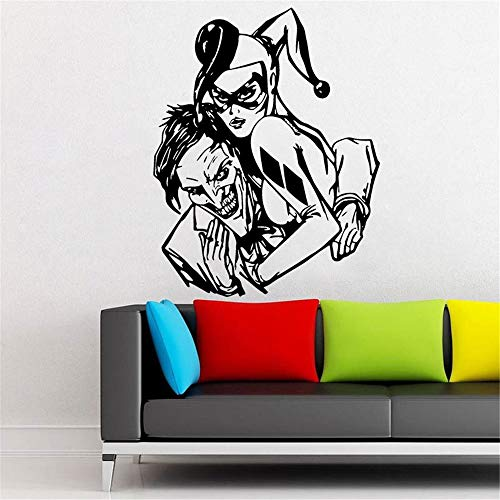 Wandtattoo Schlafzimmer Harley Quinn und Joker Aufkleber Marvel Comics Superhelden Home Designs Decals für Kinderzimmer