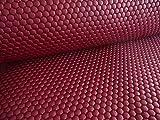Qualitativ hochwertiger Steppstoff in Rot als Meterware zum