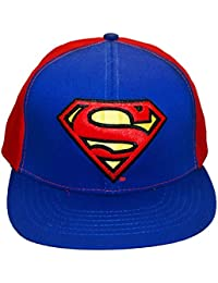 DC Comics Superman Classic Logo Embroidered Patch Snapback Baseball Cap