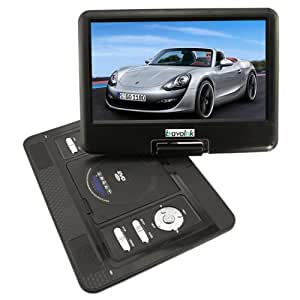 "7.5-15"" Inch Wide Screen Portable DVD EVD Player USB Game + Tv Functions (black, 13.3 inch)"