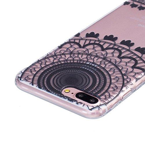 iPhone 7 Plus Coque,iPhone 7 Plus Case,iPhone 7 Plus Cover - Felfy Ultra Slim Ultra Mince Flexible Souple Soft Gel TPU Silicon Case Clair Cover Coque Housse Couleurs de Motifs Anti Scratch Couverture  Noir Campanule