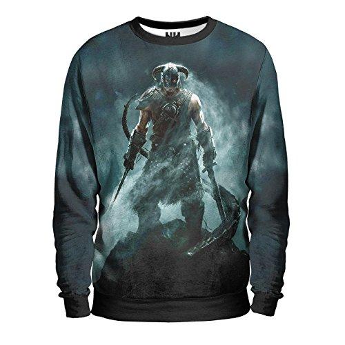 SKYRIM Felpa Uomo - Dovahkiin Sweatshirt Man - The Elder Scrolls Sony Playstation 4 Microsoft Xbox One Console Videogiochi T-Shirt Special Edition