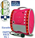 Portable Karaoke Machine & CD Player - Classic 343 PARTY PACK 1
