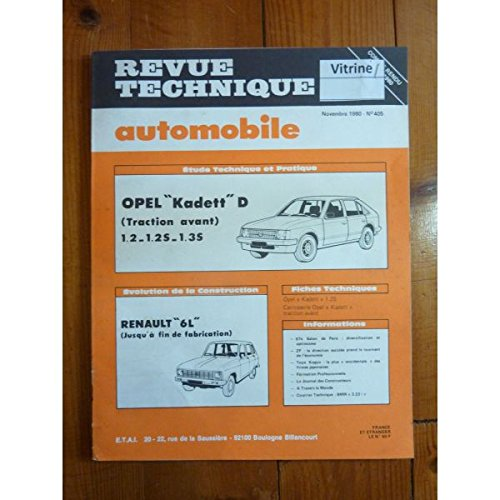 RTA0405 - REVUE TECHNIQUE AUTOMOBILE OPEL KADETT E Traction avant 1.2 - 1.2S - 1.3S