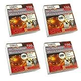 4er Set LED Deko Lichterkette Batterie Innen / Außen Fernbedienung 100 Leuchten | Timer Lichterdraht Outdoor / Indoor | Drahtlichterkette Leuchtdraht