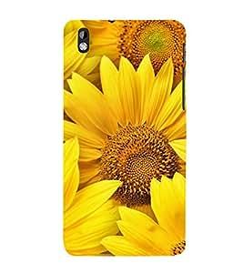 PrintVisa Sunflower Cute 3D Hard Polycarbonate Designer Back Case Cover for HTC Desire 816 :: HTC Desire 816 Dual Sim :: HTC Desire 816G Dual Sim