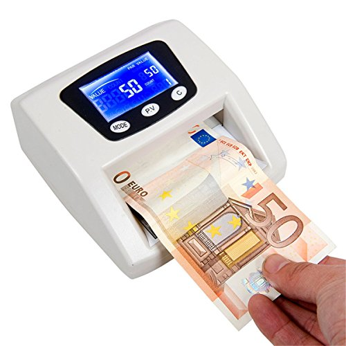 Euro-Rilevatore Banconote False Ac220-240V Bianco Plastica - 1 Unità