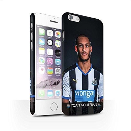 Offiziell Newcastle United FC Hülle / Matte Snap-On Case für Apple iPhone 6S / Pack 25pcs Muster / NUFC Fussballspieler 15/16 Kollektion Gouffran