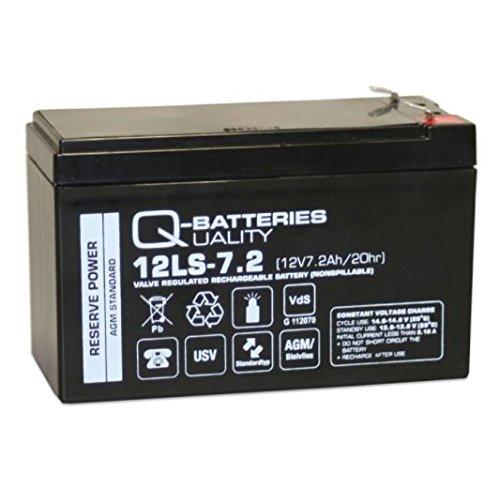 Q-7.2 F2 non-tissé de batterie au plomb 12 V 7.2 Ah AGM/Batteries 12LS avec certifiée VDS