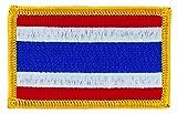 Patch écusson brodé drapeau thailande thailandais thermocollant backpack