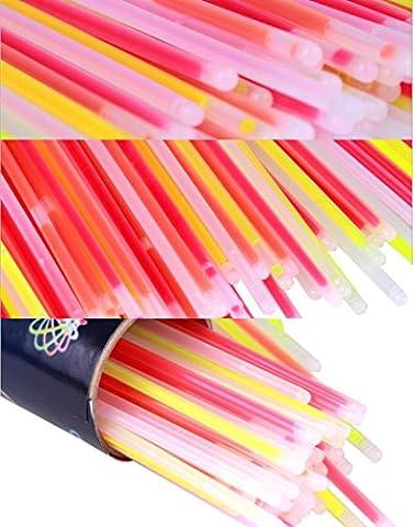 Bâtons lumineux, Malloom® 100 pcs Bracelets Colliers Fluorescent Néon Fête Chaud Cadeau