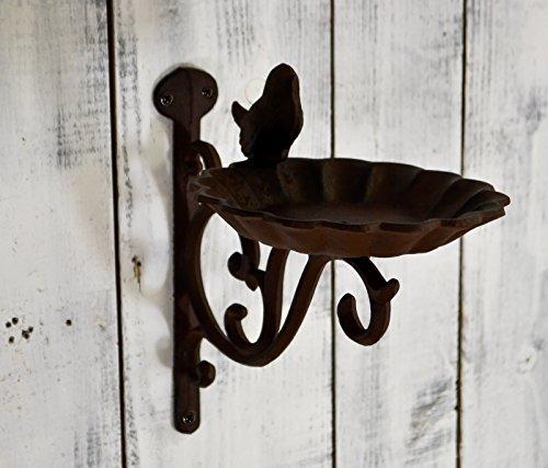 Wrought Iron Bird Bath or Feeder Wall Mounted