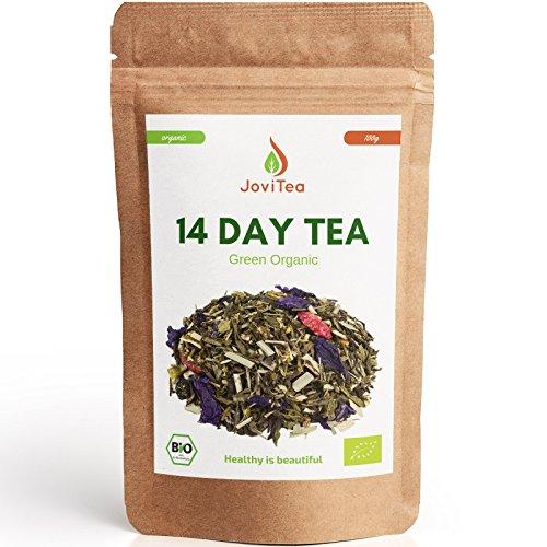 JoviTea 14 DAY TEA BIO Tee + 14-Tage Body Tee 50 Portionen + 100% natürlich und zuckerfrei + Leckere Kräuter- und Fruchtmischung + 100g