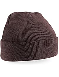 Beechfield Knitted Hat, Chocolate, One Size one size,Chocolate