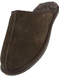 Linea-Pantofole da uomo in vera pelle di montone 3d57c1d263d