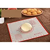 Nowakk Silikon Backmatte Pizza Teig Maker Gebäck Küchenhelfer Kochutensilien Utensilien Backformen Kneten Zubehör