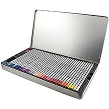 Niutop 72 Matita Colorata con Scatola di Metallo per Scrivere,