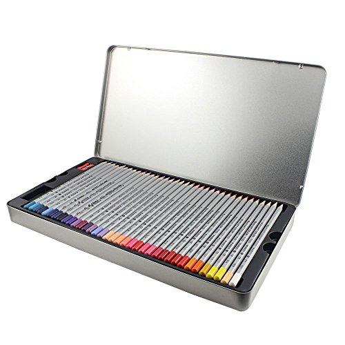 Crayons de Couleur, Niutop 72 Crayons Couleur avec Boite Métallique pour Artiste Sketch Coloriages pour Adultes / Enfants Artiste Rédaction / Manga Création Idéale pour Du dessin D'art-thérapie