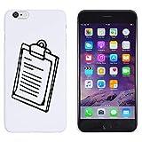 Blanc 'Presse-Papiers' étui / housse pour iPhone 6 Plus & 6s Plus (MC00151734)