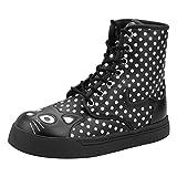 TUK Shoes Polka Dot Kitty Combat Boot UK 4