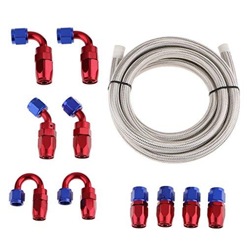 perfk AN10 Schlauch Anwendung für Universal-Heizöl-Wasserleitung, passend für Ölkühler - Weiß