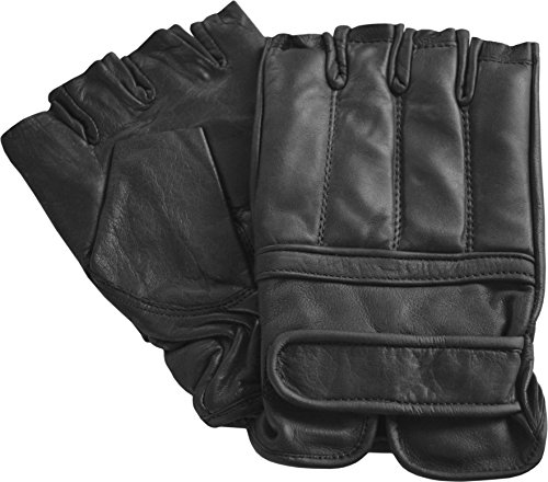 normani Quarzsand Handschuhe aus Leder ohne Finger Größe L