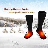 Red Grape Elektrische Beheizte Socken Unisex Frau Mann Fußwärmer Batteriebetrieben für kalte Wintersportarten Outdoor Klettern Wandern