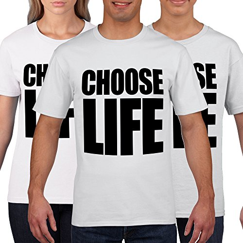 Choose Life Wham Retro 80s T Shirt Fancy Dress