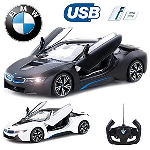 Comtechlogic® CM-2217 Official Licensed 1:14 BMW i8® Radio Control RC USB Electric Car with Remote Control Opening Doors - Ready to Run EP RTR