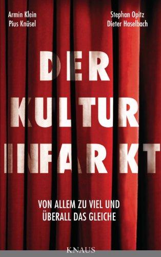 Der Kulturinfarkt: Von Allem zu viel und überall das Gleiche. Eine Polemik über Kulturpolitik, Kulturstaat, Kultursubvention.