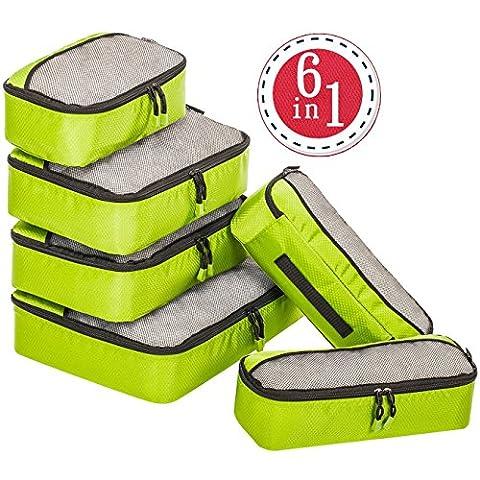 Travel Packing Cubes 6 Set, 4 Various Sizes Packing Organizers