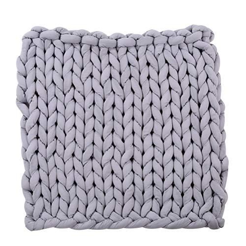 Healifty Strickdecke Strick Kuscheldecke Wolldecke Große Hand Chunky Decke für Sofa Bett...