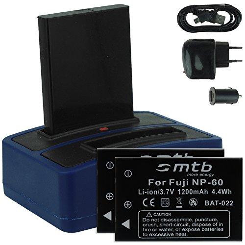 3x batteria + caricabatteria doppio (usb/auto/corrente) per drift hd (1080p), hd170 (stealth), hd720 / toshiba camileo h20 ... / ricoh caplio rr10 uvm... v. lista