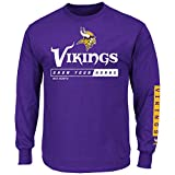 Minnesota Vikings Majestic NFL Primary Receiver 2 Long Sleeve Men's T-Shirt