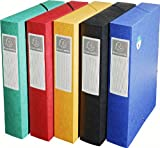 Exacompta Exabox (Manila Cardboard Spine Width 60mm 50910E Archive Box DIN A4(Random Color)
