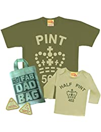 f336205e Matching Pint & Half Pint T shirt Set for Father & Son or Daughter - Army