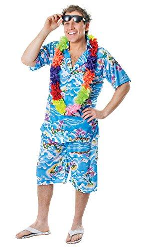 2Hawaiian Mann Kostüm, mehrfarbig, Blumenkasten (Hawaiian Mann Kostüm)
