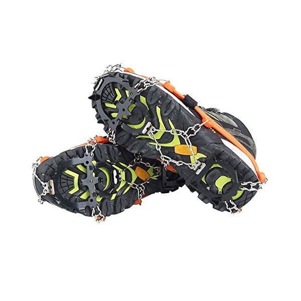 Crampones - SODIAL(R) 2 x zapatos de crampones de 12 dientes de garras antideslizantes cadena de cubierta de acero… 4