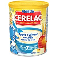 Nestle Cerelac, Apple & wheat With Milk, 400 Gram Can (Pack of 4