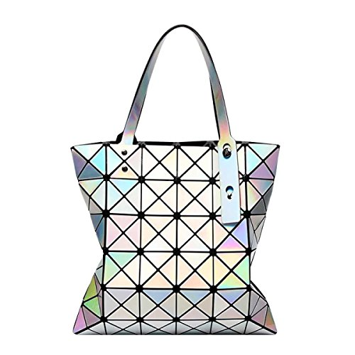 Frauen Variety Folding Schultertasche Handtasche Geometrie Laser-Tasche A
