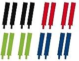Sportskanone Stutzen Set Bristol 2 Paar Stutzen Stegstutzen für Kinder & Herren versch. Farben (Schwarz, Junior (1.20-1.60m))